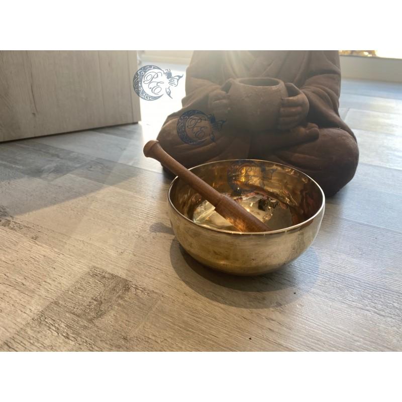 Bol Chantant Tibétain Shanti couleur or