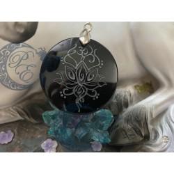 Pendentif Obsidienne Noir...