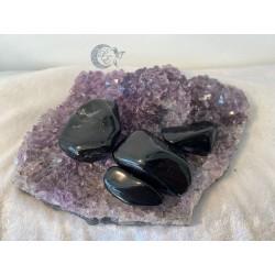 Obsidienne Argenté